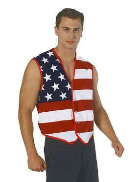 American Flag Stars and Stripes Vest