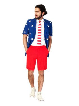 Stars and Stripes Men's Summer Opposuit