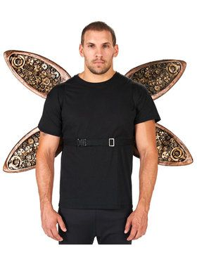 Steampunk Adult Wings with Metal Holder