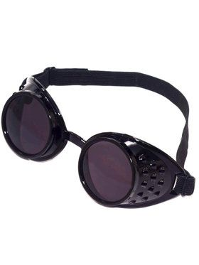 Black Steampunk Goggles Accessory