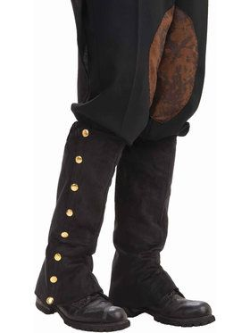 Adult Black Steampunk Male Spats