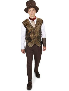 Adult Steampunk Man with Neck-Piece Costume