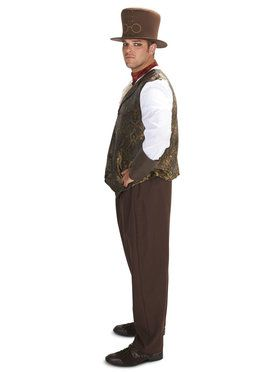 Adult Steampunk Man With Neck Piece Plus Costume