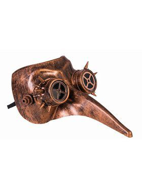 Steampunk Masks - Long Nose w/ Googles Bronze