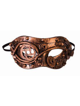 Steampunk Masks - w/Gears Bronze