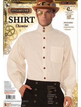 Steampunk Shirt - Men's - Beige