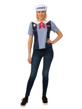 Stranger Things Robin'S Scoops Ahoy Uniform Adult Costume