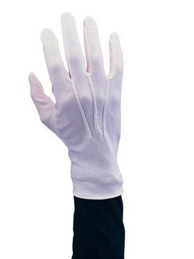 Stretch Nylon White Santa Gloves