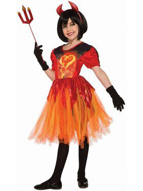 Sublimation - Devil Little Flame Child Costume