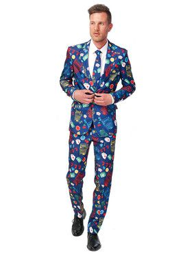 Suitmeister Casino Slot Machine Men's Suite and Tie Set