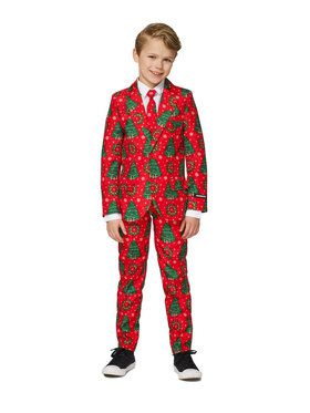 Suitmeister Christmas Trees Boy's Suit and Tie Set