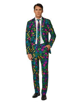 Suitmeister Floral Men's Suit and Tie Set
