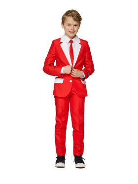 Suitmeister Santa Outfit Boy's Suit and Tie Set