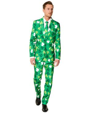 Suitmeister St. Patrick's Day Clovers Men's Suit and Tie Set