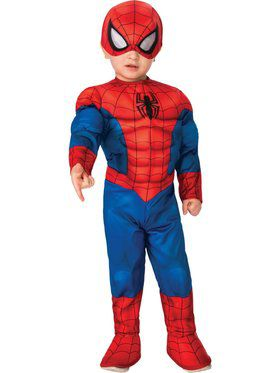 Toddler Deluxe Spiderman Super Hero Adventures Costume