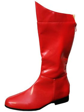 Super Hero (Red) Adult Boots Large (12-13)