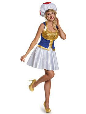 Womens Adult Super Mario Brothers Toad Costume