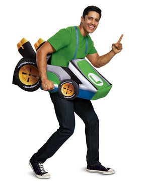 Adult Super Mario Brothers Luigi Kart Costume