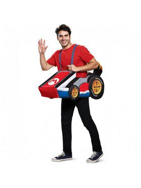 Adult Super Mario Brothers Mario Kart Costume