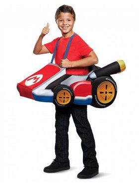Child Super Mario Brothers Mario Kart Costume