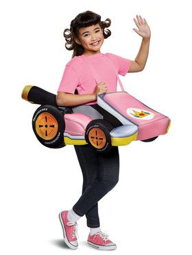 Child Super Mario Brothers Peach Kart Costume