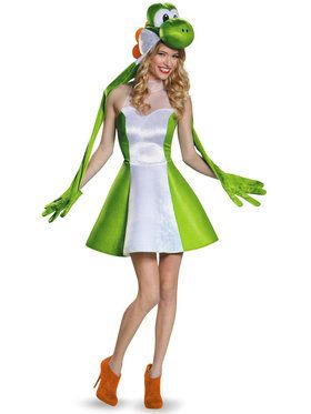 Super Mario Bros Adult Womens Yoshi Costume