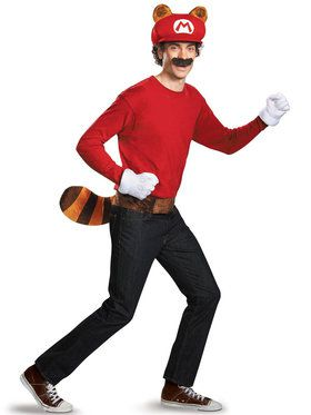 Super Mario Brothers Adult Mario Raccoon Costume