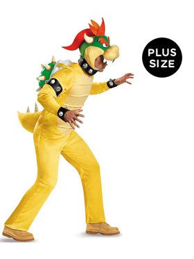 Adult Plus Deluxe Bowser Super Mario Costume