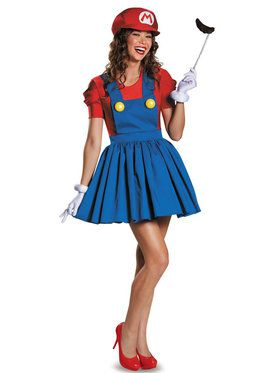 Womens Mario With Skirt Costume