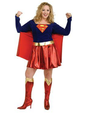 Supergirl Plus Adult Costume