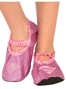 Supergirl - Classic Child Glitter Slippers