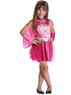 Child Supergirl Dress and Cape Set