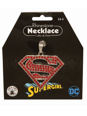 Supergirl Rhinestone Necklace