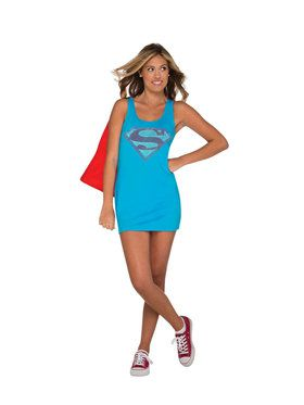 Supergirl Tank Dress For Teens