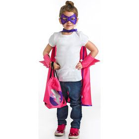 Superhero Drawstring Backpack - Girls Dress Up Set
