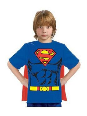 Child Superman T-Shirt Costume