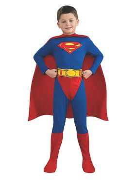 Boy's Classic Superman Jumpsuit Costume