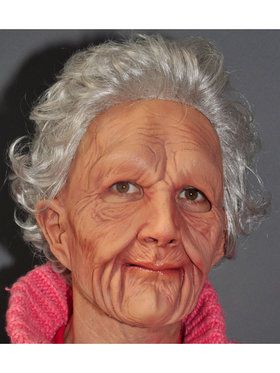Supersoft Old Woman Mask w/ Hair One Size