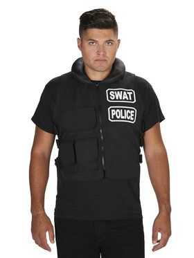 SWAT Team Vest Adult Costume One Size