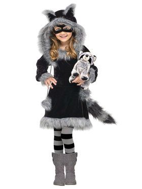 Sweet Raccoon Kids Costume