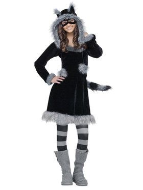 Sweet Raccoon Teen Costume