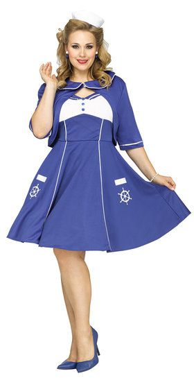 Sweet Sailin' Adult Plus Costume Plus 1X