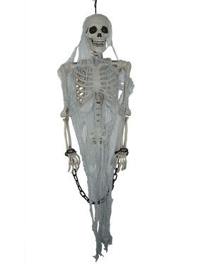 Skeleton Talking Prisoner Hanging Prop