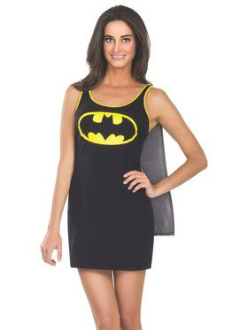 Tank Dress Adult Batgirl Costume