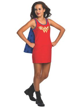 Tank Dress Teen Wonder Woman Costume