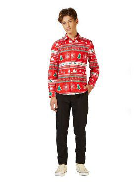 Opposuits Teen Boys Shirt Winter Wonderland Christmas Shirt