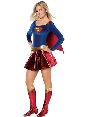 Teen Deluxe Supergirl Costume