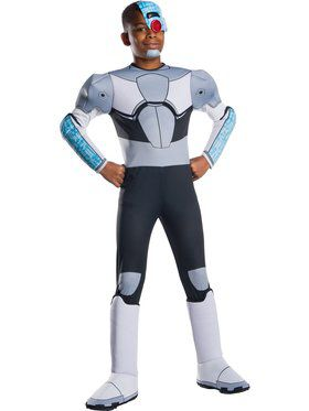 Deluxe Boys Teen Titan Go Movie Cyborg Costume