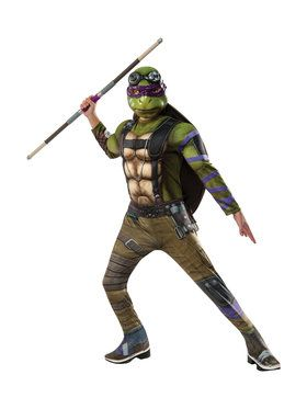 Teenage Mutant Ninja Turtles 2: Donatello Deluxe Movie Version Child Costume Small