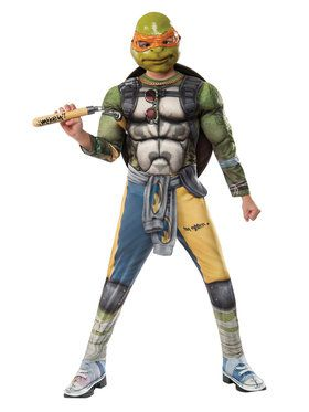 Teenage Mutant Ninja Turtles 2: Michelangelo Movie Version Deluxe Child Costume